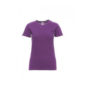 T-shirt donna girocollo Payper Sunset Lady Summer Violet 100% Cotone