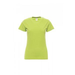T-shirt donna girocollo Payper Sunset Lady Verde Acido 100% Cotone