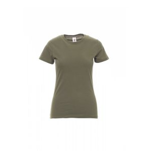 T-shirt donna girocollo Payper Sunset Lady Verde Army 100% Cotone