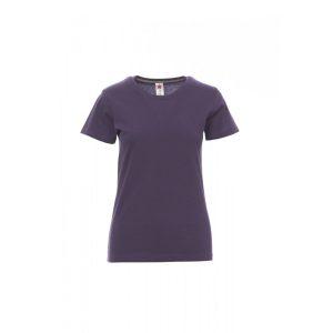 T-shirt donna girocollo Payper Sunset Lady Viola Indigo 100% Cotone