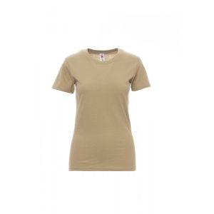 T-shirt donna girocollo Payper Sunset Lady Warm Brown 100% Cotone